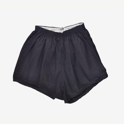 SANFORIZED GYM shorts 美國製 XXL 濃黑 44-46 慢跑 健身 彈性 短褲 膝上 極短 預縮