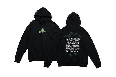 車庫服飾 -現貨  【ON AIR】DARK NIGHT HOODIE 蝙蝠圖形 帽TEE 黑色