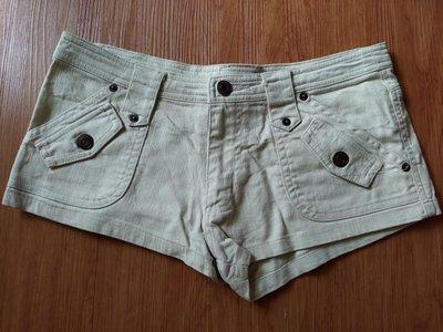 [99go]日本專櫃 GUARANTEED 超短牛仔褲  熱褲 米色 S號 純棉