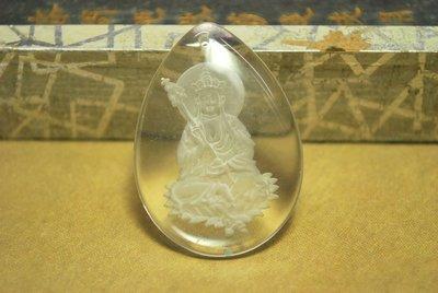 【東采藝術珠寶】 水晶地藏王 菩薩像 可串吊飾 首飾  二十年前的老件  LCR00088 水晶 可改變風水氣場