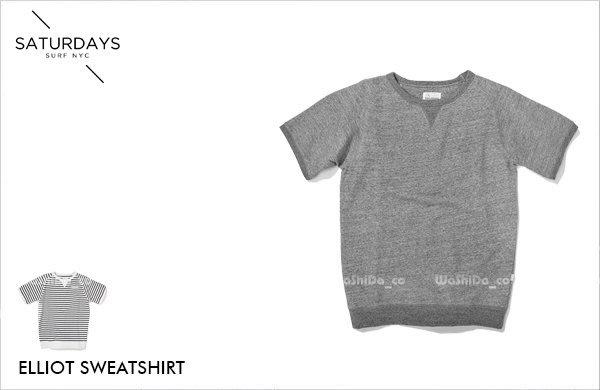 WaShiDa【11603】SATURDAYS NYC 美國品牌 ELLIOT 短袖 大學T 衛衣 T恤 現貨 SALE