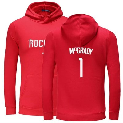 🏀Tracy McGrady長袖連帽T恤上衛衣🏀NBA火箭隊Adidas愛迪達T-Mac運動籃球衣服大學棉T男701