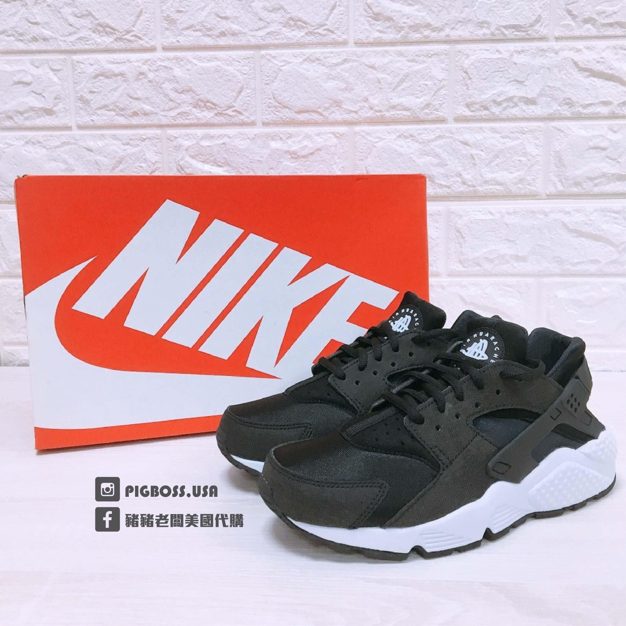 【豬豬老闆】NIKE WMNS AIR HUARACHE RUN 黑白 經典 武士鞋 女鞋 634835-006