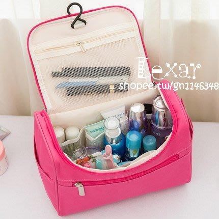 化妝包便攜韓國女大容量旅行洗漱包大號手提收納包簡約可愛化妝袋