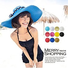 遮陽帽 韓版 隨意折疊式防曬大草帽 造型帽 推薦比基尼泳裝-媚儷香檳-【0002】