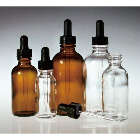 『德記儀器』《Qorpak》茶色圓形滴瓶 玻璃滴管 Round Dropper Bottles