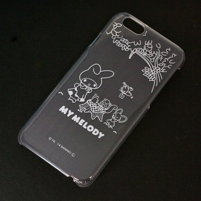 尼德斯Nydus~* 日本正版 三麗鷗 Melody 美樂蒂 透明系列 手機殼 保護殼 iphone6 4.7吋 野餐款