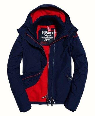 ❖客來兒美國集貨❖ superdry 極度乾燥 深藍內襯暗紅 女款 XS 防風 夾克 外套 現貨在台 熱銷 情人裝 最後清倉(另有黑色內襯紫色款xxs)