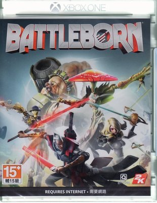 現貨中 XBOXONE 遊戲 為戰而生 Battleborn 中文亞版 【板橋魔力】