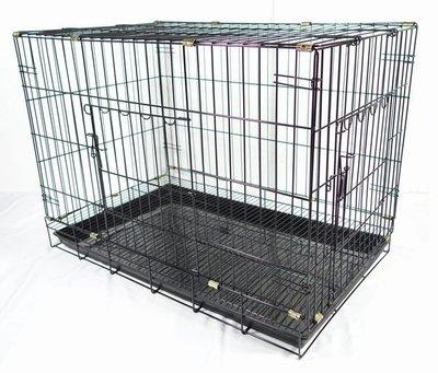 *優比寵物* 3尺活動褶疊式(黑色底盤)(雙門=正門+側門)靜電粉體烤漆兔籠/貓籠/狗籠/寵物籠-台灣製造-