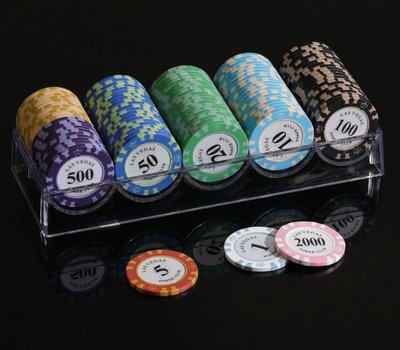 當日出貨!! 【籌碼100片+籌碼座】 -德州撲克牌、麻將、桌遊、梭哈、百家樂