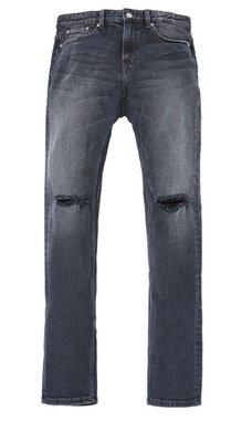 【日貨代購CITY】STEREO VINYLS SKINNY FIT 丹寧 牛仔褲 刀割 破壞 燙印 黑色 現貨