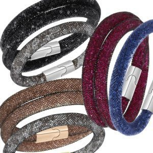SWAROVSKI 施華洛世奇款 單圈手環-----灰色銀釦(原價2990元)