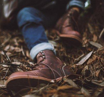 じ晨曦小鋪あ 阿美咔嘰馬丁靴男工裝靴8111真皮靴子傘兵靴高幫復古機車古著男鞋J6D5 桃園市