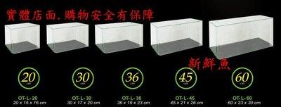 AAA~新鮮魚水族館~實體店面 台灣雅柏UP EASY TANK 36 高透明 ㄇ型 開放缸 36*19*23