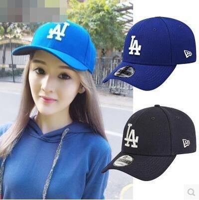 美國正品MLB棒球帽道奇LA鴨舌帽韓版情侶帽藍色男女彎檐潮牌帽