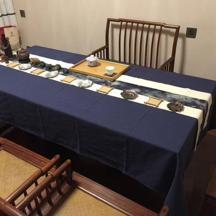 5Cgo【茗道】含稅會員有優惠43736768572 棉麻茶席麻布禪意桌旗布藝茶毯茶席香席茶藝配件直銷
