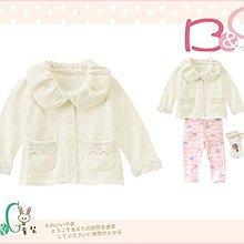 【B& G童裝】正品美國進口GYMBOREE Sparkle Knit 荷葉領針織長袖罩衫外套18-24m