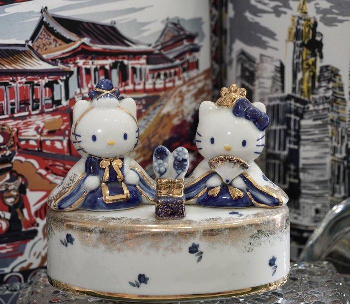 Hello Kitty 金飾手繪磁器音樂盒 限定版 現貨