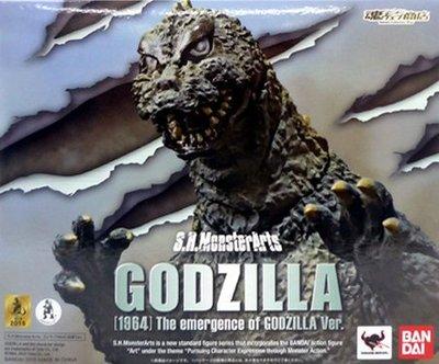 日本正版 萬代 S.H.MonsterArts SHM 哥吉拉 1964 出現 模型 公仔 日本代購