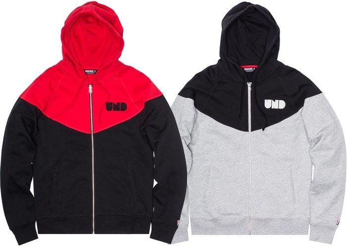 【現貨 】全新正品 2014 最新款 UNDEFEATED CAPITAL ZIP HOODIE 雙色 拉鍊 帽夾 外套