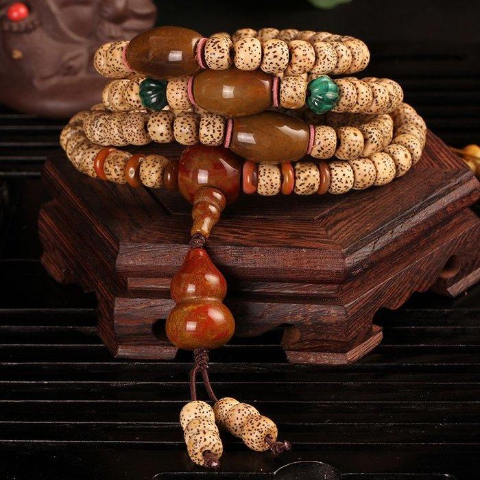 天然精品陳年老籽星月菩提佛珠手鏈手串原創南紅瑪款價