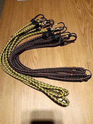 全新 機車彩繩 台製 機車繩 機車束帶 花帶 機車綁帶 行李繩 彈力繩 綁繩 固定繩 3尺 90cm 大勾
