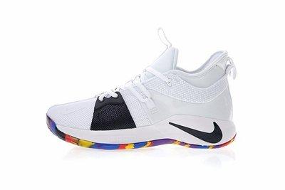 Nike Pg2 休閒運動 藍球鞋 白黑 Aj5164-100 男鞋