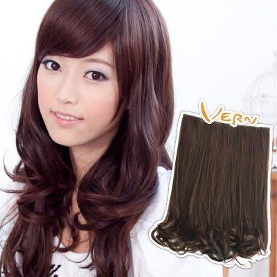 韋恩髮片-梨花捲髮髮片-日系梨花微捲-超厚髮量-包覆式整片假髮-日本仿真髮絲(3色)Vernhair【VH11402】