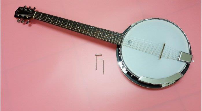 【友客里】((4樂器))班鳩琴6-String Banjo琴6弦斑鳩琴-歐洲名牌-班卓-含袋子