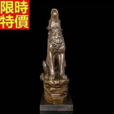銅雕擺件 嘯天狼-現代居家品味擺設雕塑工藝品66v31[獨家進口][巴黎精品]