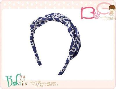 【B& G童裝】正品美國進口GYMBOREE 愛心鎖鏈圖樣藍色蝴蝶結兒童髮挎