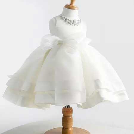 天使佳人婚紗禮服量身定做------儿童公主裙婚纱礼服 花童 白色女童礼服裙夏白雪公主蓬蓬