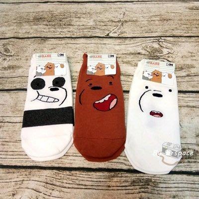 韓襪系列 (全新) 韓國襪子 正韓貨 短襪 百搭 * 熊熊遇見你 大大 胖達 阿極 * 20-26cm