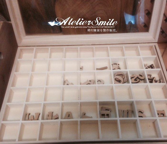[ Atelier Smile ] 鄉村雜貨 獨家款 超大108 格全手工桐木盒 收納盒 首飾盒 (現貨)