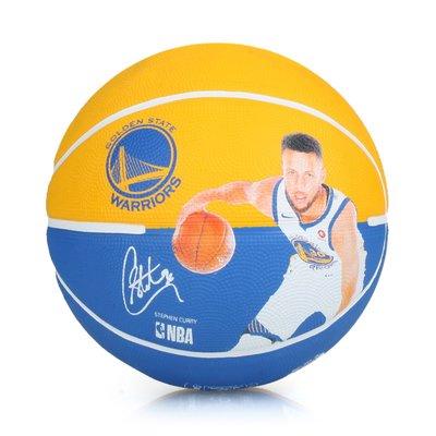 SPALDING 勇士-柯瑞 Curry 籃球 #SPA83844(附球針 7號球【99302109】≡排汗專家≡