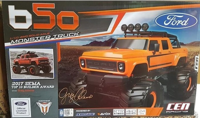 ** RC 小舖** 新上市 CEN 1/10 QX4 Ford B50 四驅電動大腳車RTR(橘色)