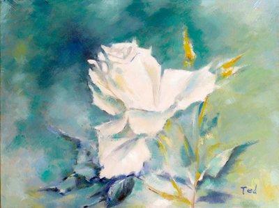 聚鯨Cetacea﹡Art【Pure / Ted】進口油畫 無框畫 手繪油畫 花 純粹