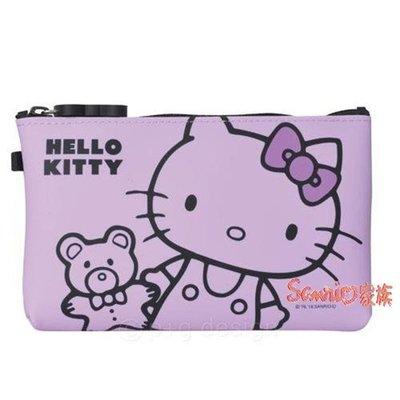 《東京家族》紫 Kitty 矽膠 化妝包/筆袋