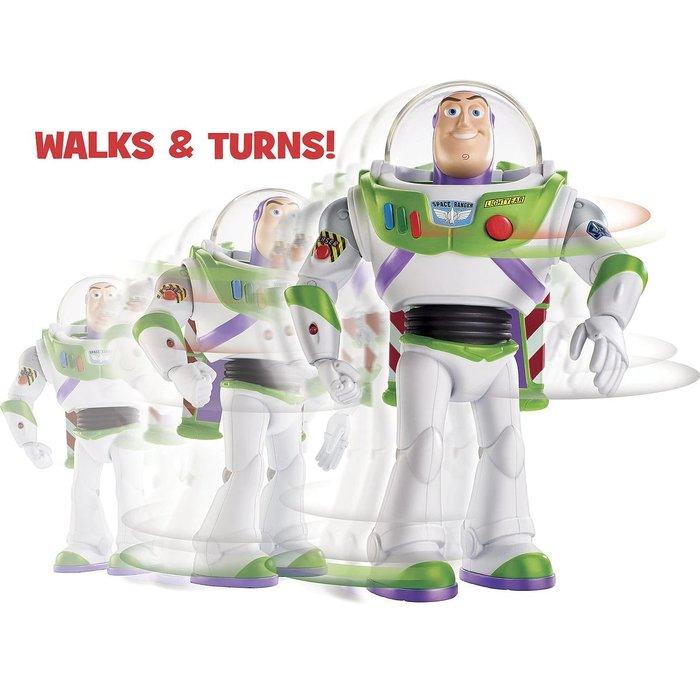 【美國大街】正品.美國迪士尼玩具總動員巴斯光年 會走路巴斯 7吋 / 17.7cm 【會說話和走路】