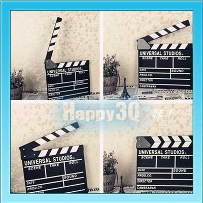微電影婚紗攝影兒童錄影導演道具黑色場記打卡板【AAA0554】預購