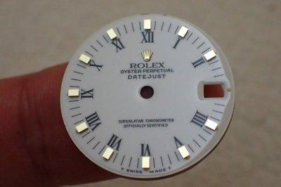 ROLEX勞力士印刷羅馬白瓷面半金款DATEJUST 68273 68278專用(RSC驗不過全額退款)