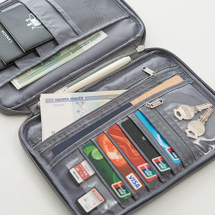 護照包證件夾車票夾7-11全家正韓國版出國旅游護照證件機票收納包 護照包機票護照夾長款多功能證件袋1983