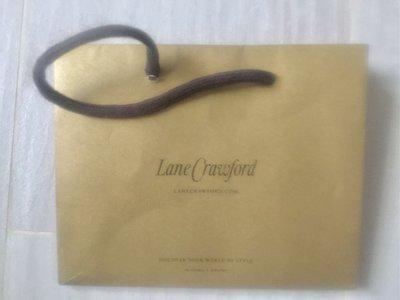 絕對100%原裝 100%全新【Lane Crawford】金色 紙袋 paper bag 17 x 13.5 x 9 cm