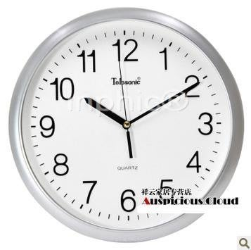 INPHIC-12吋電子客廳掛鐘簡約靜音創意石英鐘時鐘
