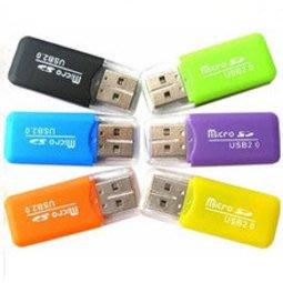 完整袋裝 TF冰爽讀卡機 USB 2.0 TF / Micro SD 讀卡機/讀卡器 迷你讀卡機