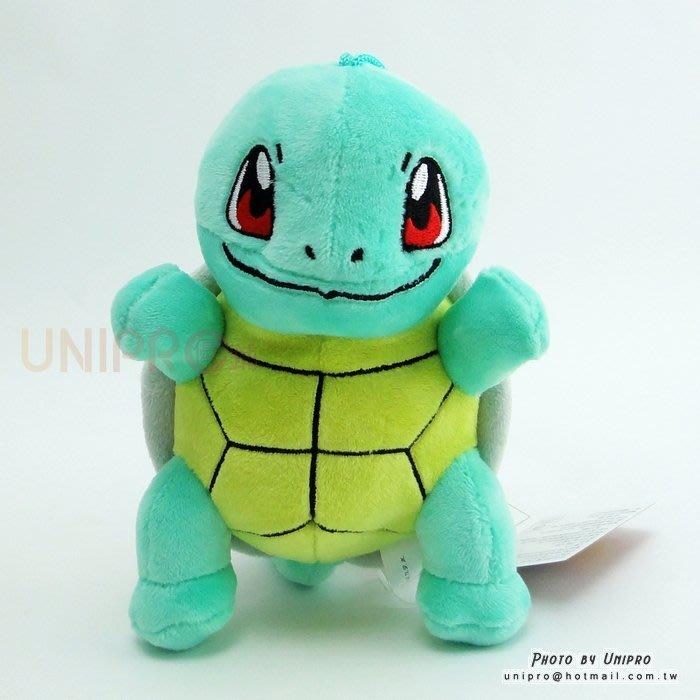 【UNIPRO】神奇寶貝 XY 傑尼龜 Squirtle 14公分 絨毛娃娃 玩偶 吸盤吊飾 禮物 正版授權 寶可夢