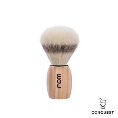 【 CONQUEST 】德國 nom OLE系列 OLE41PA Shaving Brush 刮鬍刷 鬃毛刷 白蠟木握柄