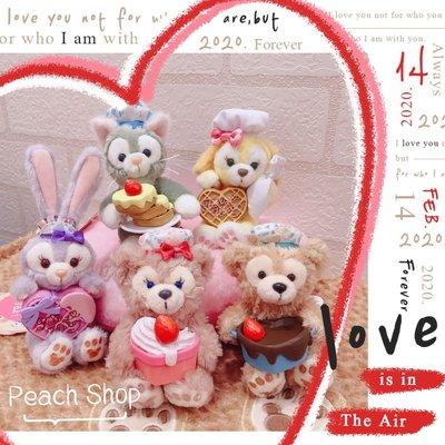 【桃子小舖 ♥ P.S 】2020情人節達菲好朋友草莓味坐姿吊飾 東京迪士尼
