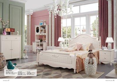 [紅蘋果傢俱] 860 簡約優雅系列 韓式 床台 5尺 6尺 床架 法式床 歐式床 鄉村床 (另售書櫃、衣櫃、床頭櫃)
